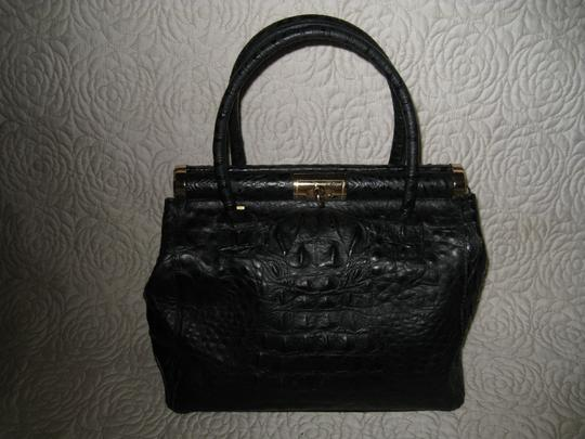 Old Florence Leather Factory Satchel in black Image 5