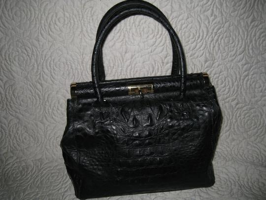 Old Florence Leather Factory Satchel in black Image 6