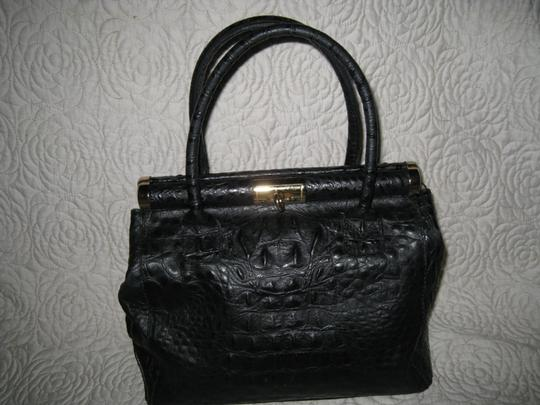 Old Florence Leather Factory Satchel in black Image 7