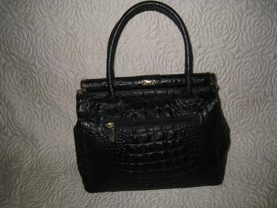 Old Florence Leather Factory Satchel in black Image 9