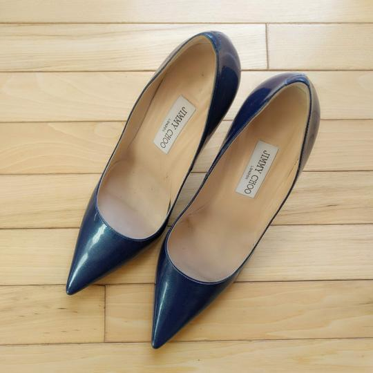 Jimmy Choo Ocean Midnight Blue Pumps Image 1