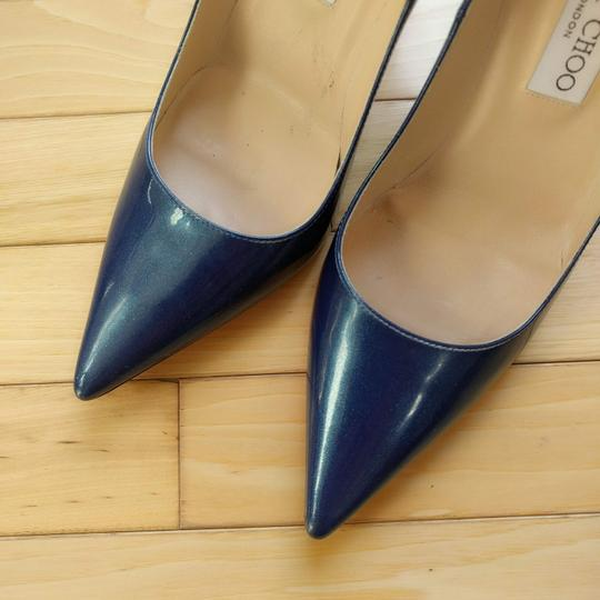 Jimmy Choo Ocean Midnight Blue Pumps Image 4