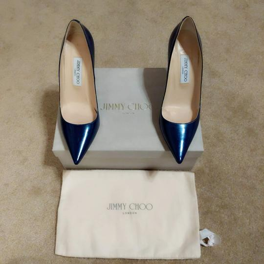 Jimmy Choo Ocean Midnight Blue Pumps Image 6