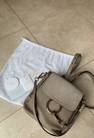 Chloé Taupe Backpack Image 11