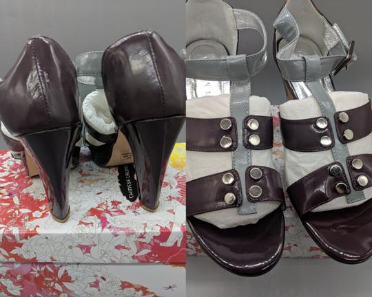Chinese Laundry Leather Heels Purple, gray Sandals Image 2