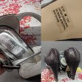 Chinese Laundry Leather Heels Purple, gray Sandals Image 3
