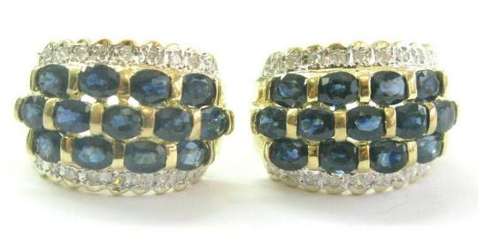 Preload https://img-static.tradesy.com/item/25650006/blue-sapphire-and-diamond-huggie-leverback-14kt-yellow-gold-66-earrings-0-0-540-540.jpg