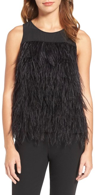 Preload https://img-static.tradesy.com/item/25650012/genuine-ostrich-feather-tank-black-top-0-1-650-650.jpg