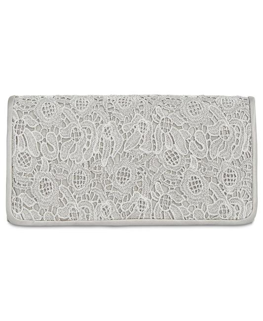 Item - Sabrina Small Silver/Gray Polyester Clutch