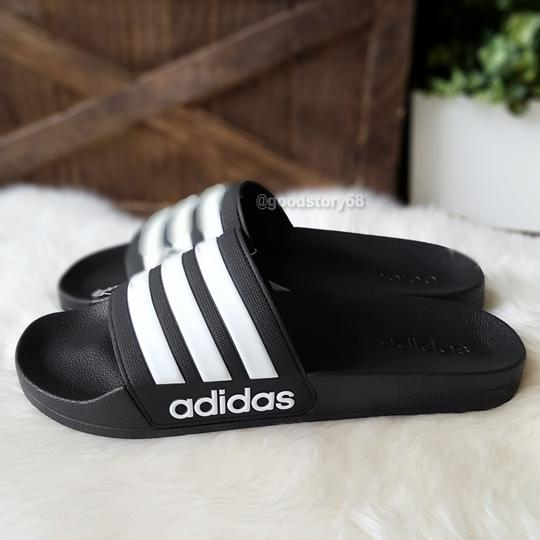 adidas Black/White Sandals Image 2