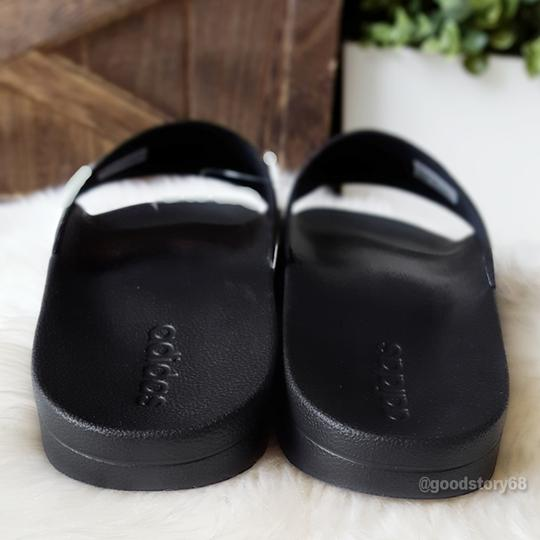 adidas Black/White Sandals Image 3