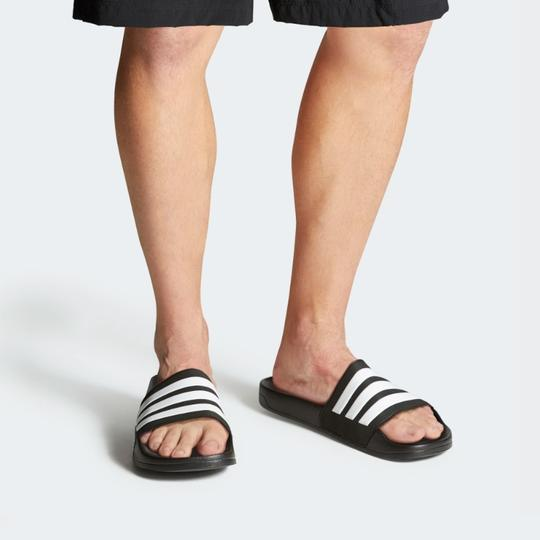 adidas Black/White Sandals Image 7