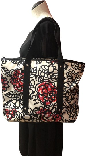 Preload https://img-static.tradesy.com/item/25650124/coach-flowered-white-black-pink-and-red-heavy-silk-tote-0-1-540-540.jpg