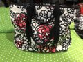 Coach Flowers Hot Tote in White, Black, Pink and Red Image 1