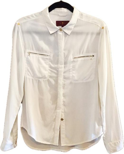 7 For All Mankind Top Cream Image 7