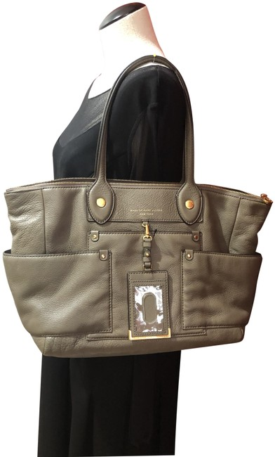 Marc Jacobs Puma Taupe Cowhide Leather Tote Marc Jacobs Puma Taupe Cowhide Leather Tote Image 1