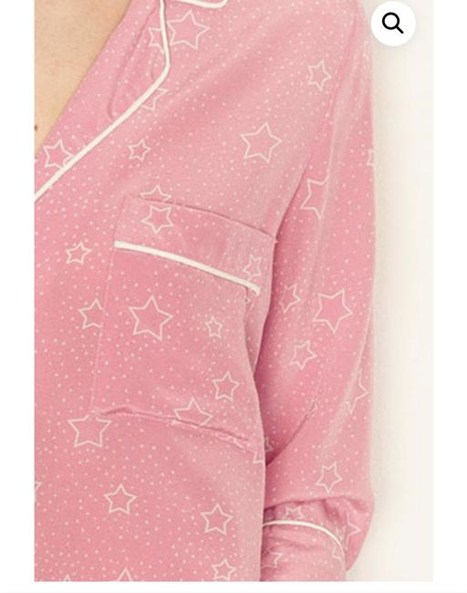 Tabitha Webb Chic European Oversized Silk Print Top Blush Star Image 1