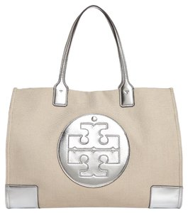 Tory Burch Tote in Natural / Silver