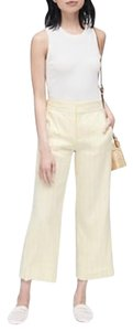 Zara Woman Studio High Waisted Cropped Sailor Flare Pants Yellow