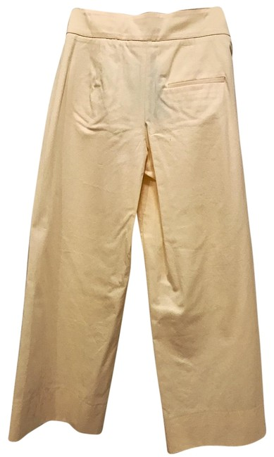 Zara Woman Studio High Waisted Cropped Sailor Flare Pants Yellow Image 2