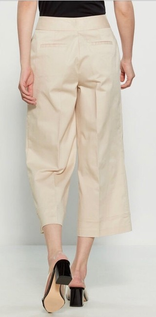Zara Woman Studio High Waisted Cropped Sailor Flare Pants Yellow Image 3