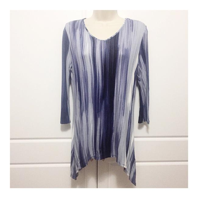 Preload https://img-static.tradesy.com/item/25650277/cynthia-rowley-blue-34-sleeve-blouse-size-6-s-0-0-650-650.jpg