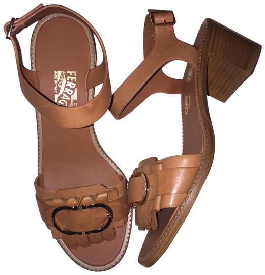 Preload https://img-static.tradesy.com/item/25650309/salvatore-ferragamo-brown-elan-brogue-kilty-chunky-heels-saddle-leather-sandals-size-us-8-regular-m-0-1-540-540.jpg