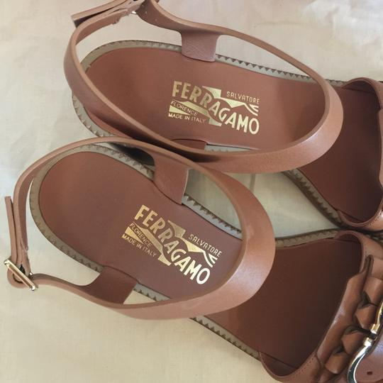 Salvatore Ferragamo Brown Sandals Image 8