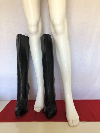 Christian Louboutin High Heels Otk Over The Knee Thigh High Platform Black Boots Image 3