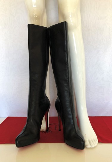 Christian Louboutin High Heels Otk Over The Knee Thigh High Platform Black Boots Image 5