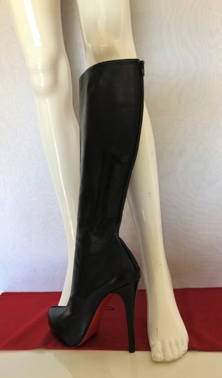 Christian Louboutin High Heels Otk Over The Knee Thigh High Platform Black Boots Image 6