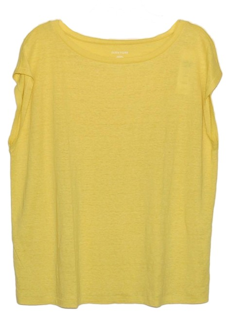 Item - Yarow Yellow Bateau Neck Short Sleeve Tunic Size 8 (M)