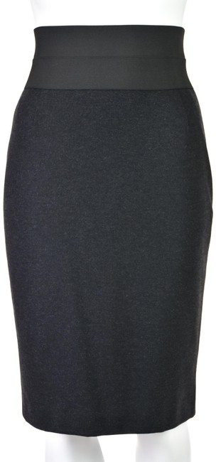 Item - Charcoal Gray Ponte Knit with Very Wide Elastic Waist Skirt Size 2 (XS, 26)