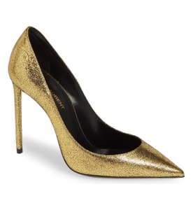 Saint Laurent Noir/Gold Pumps