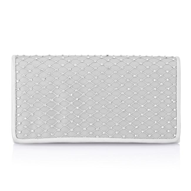 Item - Sigrid Small Silver Polyester Satin Clutch