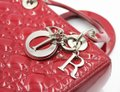 Dior Patent Leather Silver Hardware Tote in Dark Red Image 5