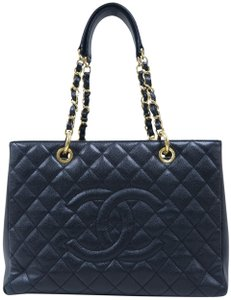 Chanel Gst Caviar Shopping Tote Shoulder Bag