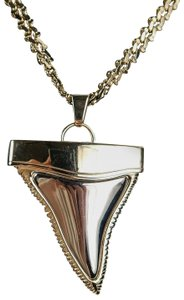 Givenchy Shark Tooth Necklace Gold Pendant Chain