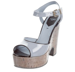 Fendi Black/Grey/Light Blue Platforms