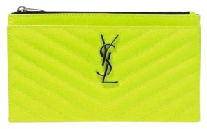 Saint Laurent neon yellow Clutch