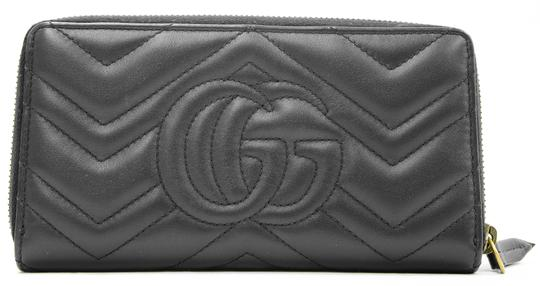 Gucci Authentic GG Gucci 2 Way Zip Around Wallet Black Leather Image 1