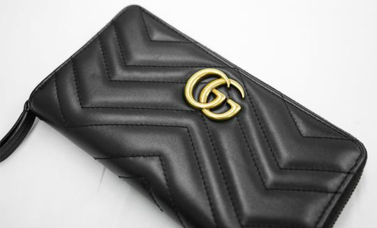 Gucci Authentic GG Gucci 2 Way Zip Around Wallet Black Leather Image 2