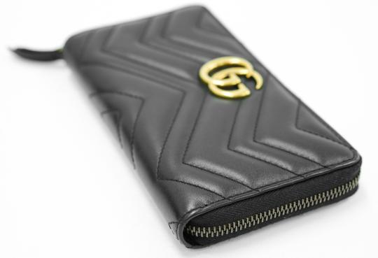 Gucci Authentic GG Gucci 2 Way Zip Around Wallet Black Leather Image 4