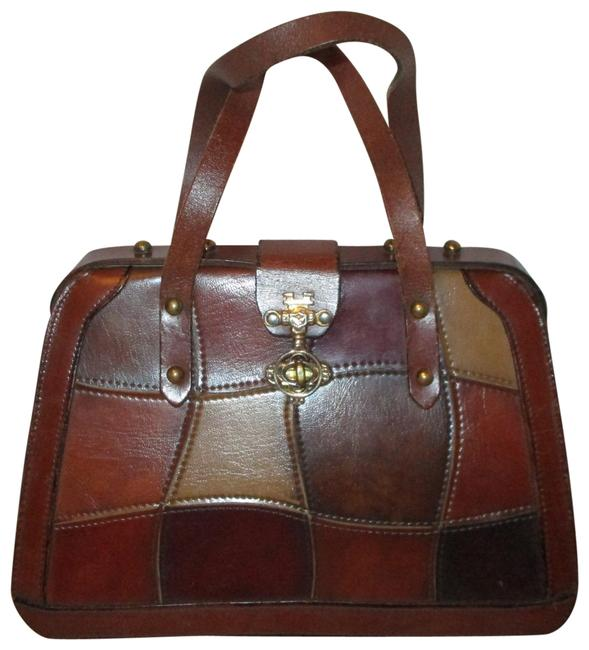 Item - Vintage Patchwork Brown Multi Leather and Man Made Satchel