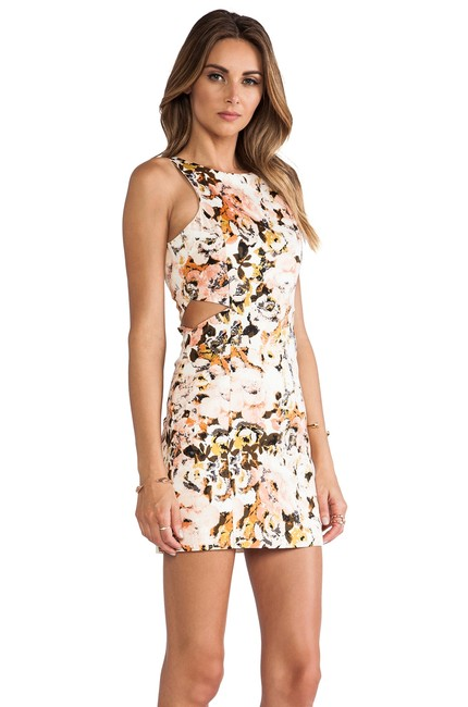 Item - Peach Party Monster Cut-out Short Casual Dress Size 10 (M)