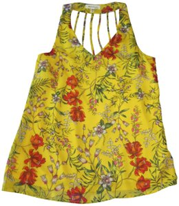 Monteau Los Angeles Top Yellow Floral
