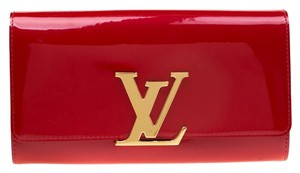 Louis Vuitton Patent Leather Red Clutch