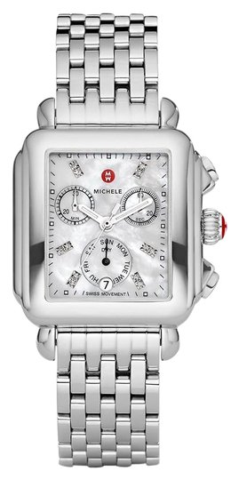 Preload https://img-static.tradesy.com/item/25651834/michele-silver-deco-stainless-mother-of-pearl-diamond-dial-mww06p000014-watch-0-1-540-540.jpg