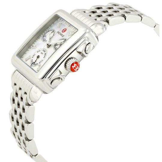 Michele Deco Stainless Mother Of Pearl Diamond Dial Mww06p000014 Image 2