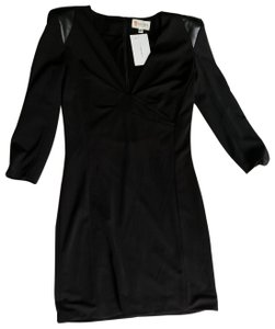 L'ATISTE Amy Garment Society Faux Leather Dress